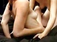 homemade lesbians go at it alluring and heavy video on StupidCams