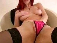Homemade red-hair horny emo showing huge breasts video on StupidCams