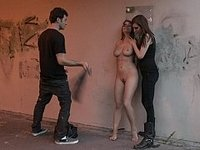Natural titted gets punished under the bridge video on StupidCams