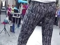 Cuties with terrific booties get caughty on hidden cam in the street video on StupidCams