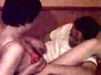 attractive short haired brunette fucking with condom video on StupidCams