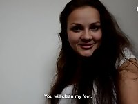 Bratty young girl foot worship - POV - CzechSoles.com teaser video on StupidCams