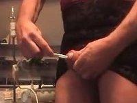 ladyboy sounding urethral lampe allumee video on StupidCams