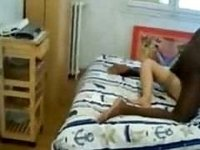 French wifey with black black filmed by fiance video on StupidCams