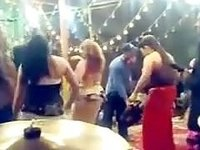 Sensual belly-dancers get caught on my hidden cam at a group fuck video on StupidCams