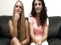 amateur casting Robyn and Tonya video on StupidCams