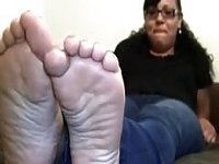 sex tape solo clip with me demonstrating my feet for the cam video on StupidCams