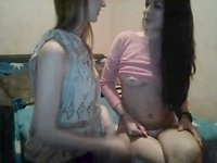 Two Lesbians Kissing on Webcam video on StupidCams