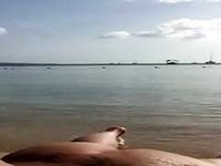 chubby vacation beach swallow video on StupidCams