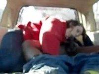Camping trip car blowjob video on StupidCams