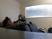 Hidden cam morning sextape video on StupidCams