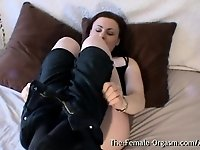 Curvy Babe with Furry Fleshy Wet Pussy Vibrates Her Clit video on StupidCams