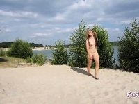 Young Nudist Girl Spreading video on StupidCams