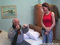Hot caregiver Sarah Star seduced by 83 y.o. grandpa Mireck video on StupidCams