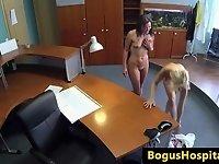 Euro amateur pussy licks blonde lesbian nurse video on StupidCams