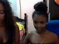 sexy black girl doing selfies video on StupidCams
