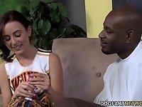 Petite Teen Cheerleader Mae Meyers Fucks Black Dick video on StupidCams