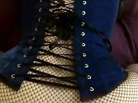 Slutwifelaura corset big tits POV fuck with hubby's friend video on StupidCams
