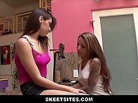 Lesbian Latina Teen Stepsister Has Family Sex With Virgin Sister video on StupidCams