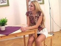 Well shaped cute European teen by her friend video on StupidCams