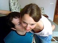 Teen couple in missionary position video on StupidCams