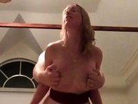 Amateur MILF huge fake tits doggystyle video on StupidCams