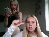 2 blonde girls humiliate me masturbating on omegle video on StupidCams
